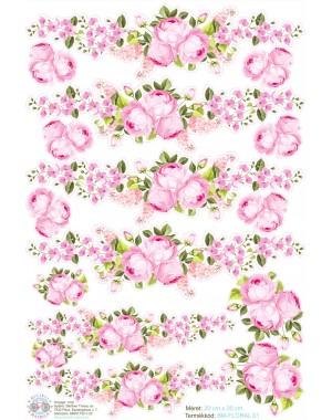 Virágos, rózsás kerékpár matrica