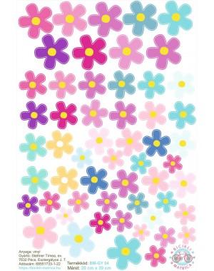 Virágos kerékpár matrica