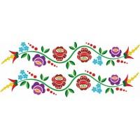 Kalocsai virágos kerékpár matrica (1 pár)