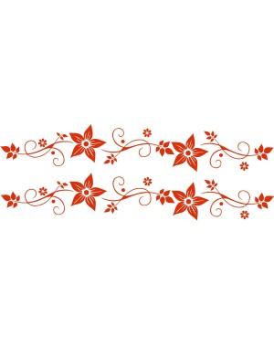 Bicikli matrica, virágos, piros (2 db)
