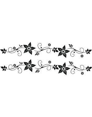 Bicikli matrica, virágos, fekete (2 db)