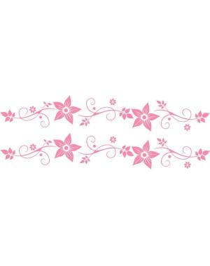 Bicikli matrica, virágos, rózsaszín (2 db)