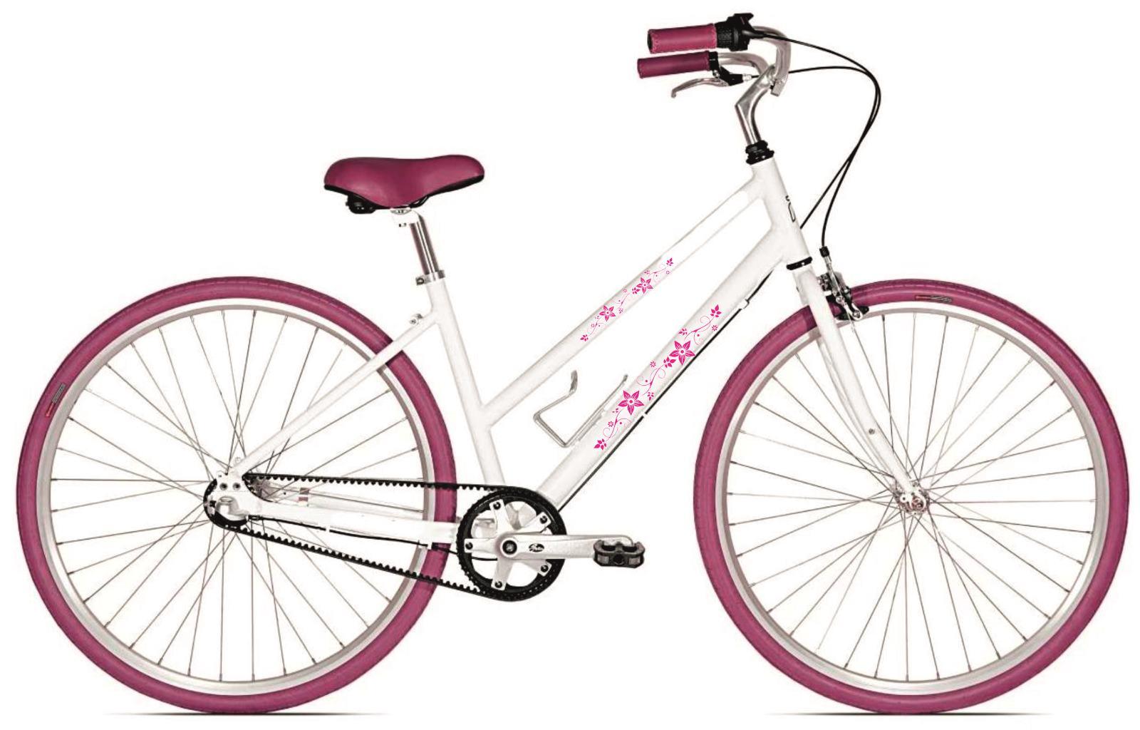 virágos bicikli matrica